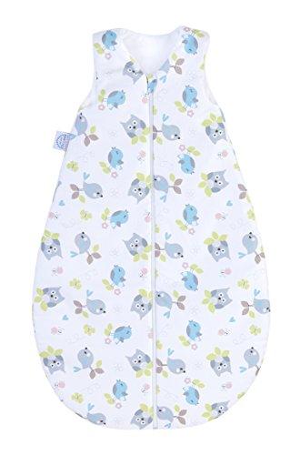 Julius Zöllner Baby Sommerschlafsack aus 100% Baumwolle, Größe 90, 12-24 Monate, Standard 100 by OEKO-TEX, made in Germany, Zaunkönig