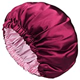 Satin Bonnet Sleep Bonnet Cap - Extra Large, Double Layer, Reversible,...