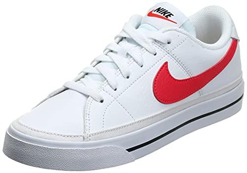 Nike Short Legacy CU4149 100 pour femme Blanc/rouge, blanc (Blanc/rouge sirène/noir), 40.5 EU