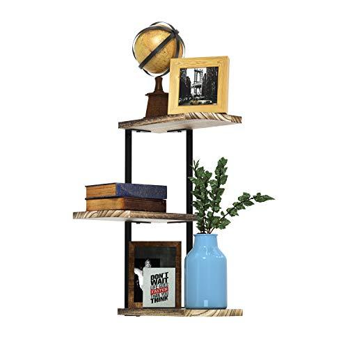 Love-KANKEI Estantería esquinera para colgar, estantería de pared, estantería de libros, diseño para dormitorio, salón, baño, cocina, oficina, etc.