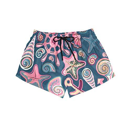 MONTOJ Seashell Pattern Damen Board Short Slip Comfort Quick Dry Gr. S, 1