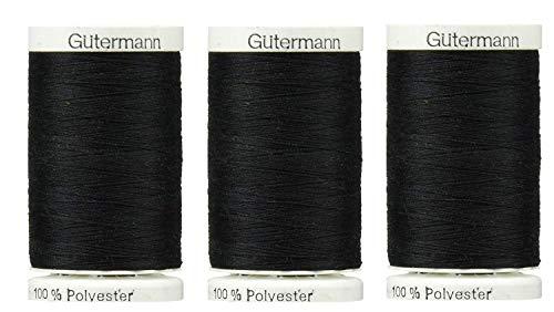 Sew-All, All PurposeThread 547 Yards-Black GUTERMANN Thread 3 Pack (Black)