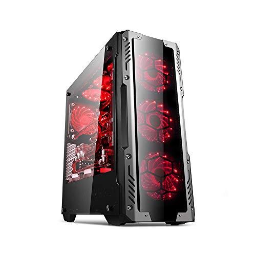 GOLDEN FIELD - Z2 PC Gehäuse ATX/Micro ATX Mid-Tower PC Gaming Computer Gehäuse mit Seitenfenster für Desktop-PC
