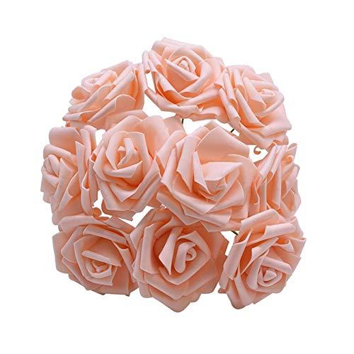 LANTIANXIAN Neue Bunte künstliche PE-Schaum-Rosen-Blumen-Braut-Bouquet Startseite Hochzeitsdeko Scrapbooking DIY Supplies (Farbe : Rose pink, Größe : F015)