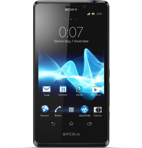 Sony Xperia T (LT30p) Smartphone (11,6 cm (4,6 Zoll) Touchscreen, Qualcomm Krait, Dual-Core, 1,5GHz, 1GB RAM, 13 Megapixel Kamera, Android 4.0) schwarz