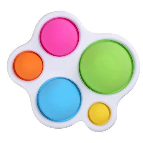 Fidget Toy, Simple Fidget Toys Antistress Sensoriali in Silicone a Doppia Faccia, Adatti per Giocattoli di età Superiore a 6 Mesi Antistress