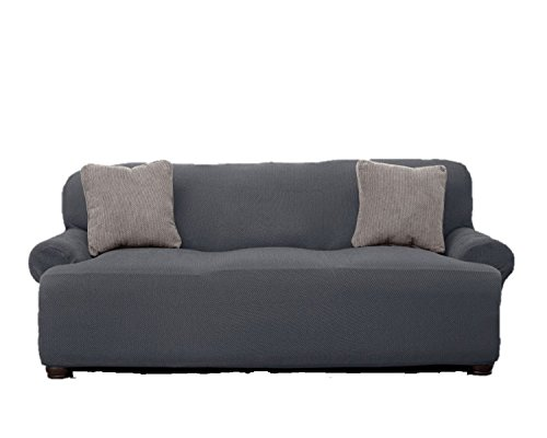 Le Benton Sofa Cover, Stretchable, Beautiful Look, Great Protector, Couch Slipcover, Grey