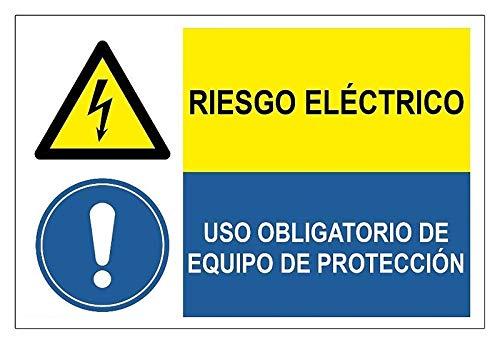 Becral®- Señal combinada ¡PELIGRO! RIESGO ELECTRICO/USO OBLIGATORIO DE EQUIPO DE PROTECCION de...