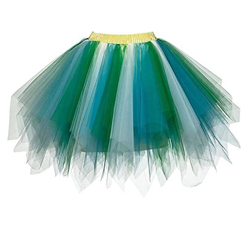 Falda de tutú para mujer, minifalda de tutú, para adultos, para fiestas, Halloween, disfraces, bailes, Q, Talla única