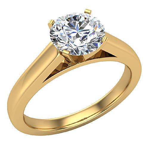 Glitz Design Mujer Niños Hombre Unisex 750 Gold oro amarillo 18 quilates (750) round-brilliant-shape G-H Diamond