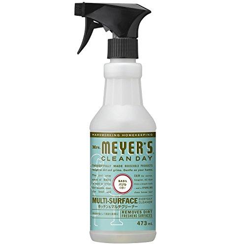 ミセスマイヤーズ クリーンデイ(Mrs.Meyers Clean Day) キッチン&マルチクリーナー バジルの香り 473mL