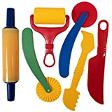 READY 2 LEARN-CE10011 Dough Tools - Set of 6 - Arts and Crafts for Kids - Sculpting Tools to Roll, Cut, Mold and Flatten - Art Supplies for Pottery and Dough