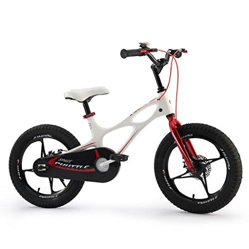 Brilliant firm Vélos Enfants Vélo 3-6 Ans en Alliage de magnésium Cadre vélo pour Enfants 14 Pouces 16 Pouces Voiture pour Enfants Hommes et Femmes (Color : Blanc, Size : 14 inches)