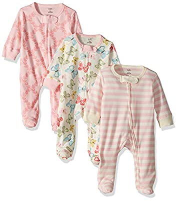 Touched by Nature Baby Organic Cotton Sleep and Play, Butterflies, 0-3 Months