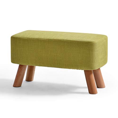 LJZslixnd - Taburete pequeño de madera maciza, diseño moderno y creativo, para el hogar, silla pequeña, banco de cambio, banco pequeño, color verde