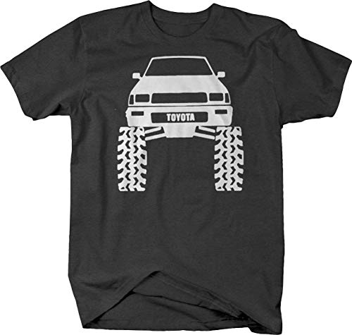 SR5 4Runner Offroad Lifted Mud Tires Truck T Shirt for Men Large Gray