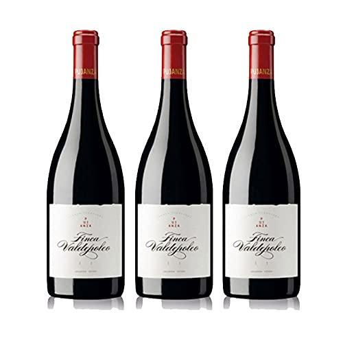 Vino tinto Finca Valdepoleo de 75 cl - D.O. La Rioja - Bodegas Pujanza (Pack de 3 botellas)