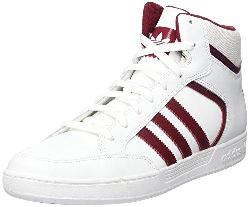 adidas Varial Mid, Zapatillas Altas Hombre, Blanco (Footwear White/Collegiate Burgundy/Footwear White), 44 2/3 EU