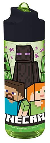 POS 33171 - Trinkflasche mit Minecraft Motiv, aus Kunststoff, bpa- und phthalatfrei, Fassungsvermögen circa 540 ml, ideal für Unterwegs, Kindergarten und Sport, für Jungen und Mädchen
