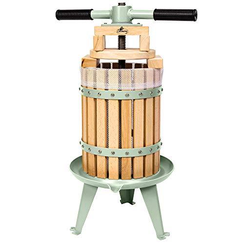 Lacewing Saftpresse mit Druckhebel für Obst, Äpfel und Weintrauben, (6 Liter)