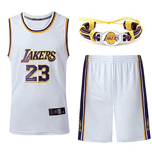 GAOXI Lakers 23 # - Camiseta de baloncesto para hombre y mujer, transpirable, bordado de baloncesto Swingman Jersey, pulsera de baloncesto, talla L
