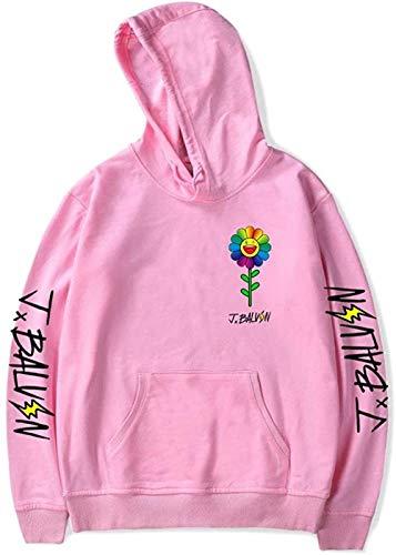 WAWNI J Balvin Sudaderas con capucha y diseño de flores, unisex
