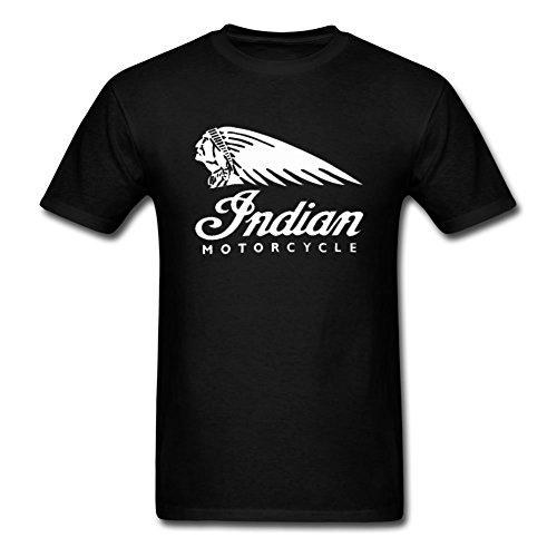 Camiseta de manga corta Indian Motorcycles para hombre Medium,black0,Medium,black0 M,Negro