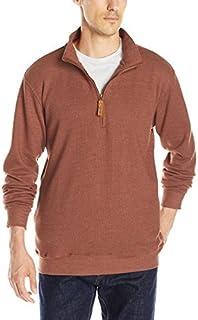 Smith's Workwear Men's 1/4 Zip Heavyweight Thermal Heather Pullover Sweatshirt W/Pockets