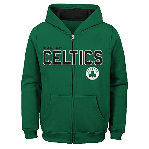 NBA by Outerstuff NBA Kids & Youth Boys Boston Celtics 'Stated' Full Zip Fleece Hoodie, Kelly Green, Kids Large(7)