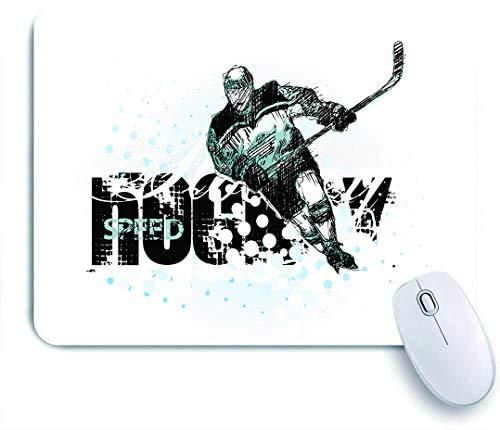 GLONLY Grunge Sketch Art de una Silueta de Jugador Profesional y Texto con Puntos,Alfombrilla Raton Alfombrilla Gaming Alfombrilla para computadora