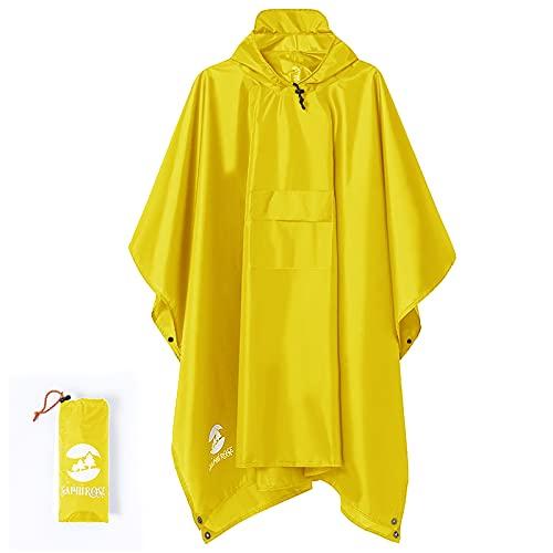 Summer Mae Poncho de Lluvia Reutilizable Capa Lluvia Multifuncional...