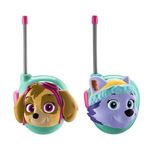 Paw Patrol Skye & Everest Walkie Talkies for Kids Static Free Extended Range Kid Friendly Easy to Use 2 Way Walkie Talkies