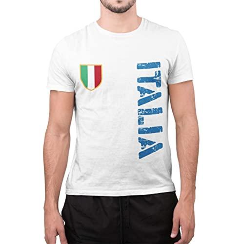 CHEMAGLIETTE! T-Shirt Divertente Uomo con Stampa Europei Calcio 2021 Italia, L