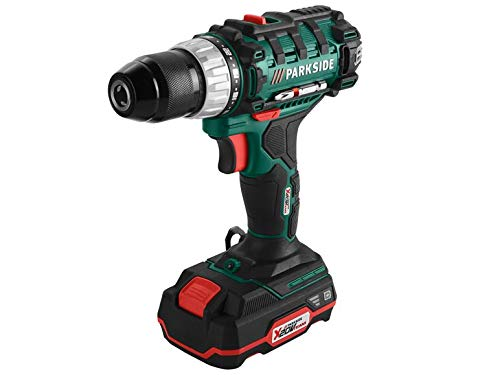 Cordless Drill PABS 20-Li D4 Parkside X20V (with Battery and Charger, in Case)