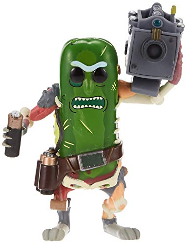 Funko- Pop Vinile Rick & Morty Pickle Rick w/Laser Action Figure, 9 cm, 27862