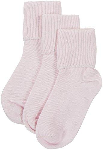 Jefferies Little Girls' 3 Pack Seamless Turn Cuff (Toddler/Kid) - Pink - 3-7