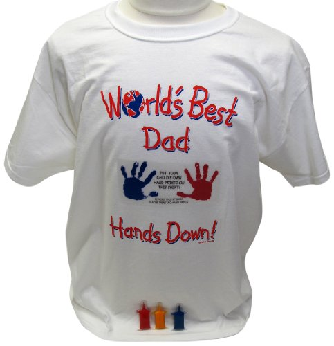 Price comparison product image Handy Tees Worlds Best Dad Tee Keepsake Product,  Large T-Shirt