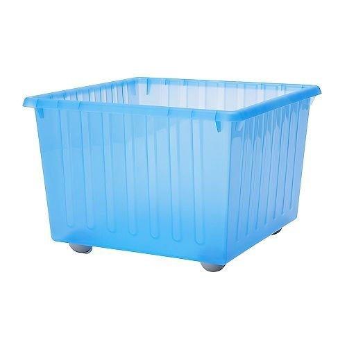 IKEA VESSLA Kasten auf Rollen in blau
