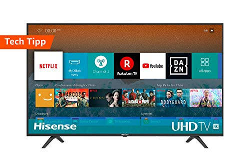 Hisense H55BE7000, Smart Tv 55' 4K UltraHD con Alexa Integrada, Negro Clase de eficiencia energética A