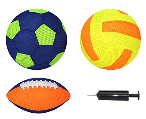 Best Sporting Neopren Beach-Ball-Set Aufblasbälle MESH 4-teilig, Farbe:orange/gelb