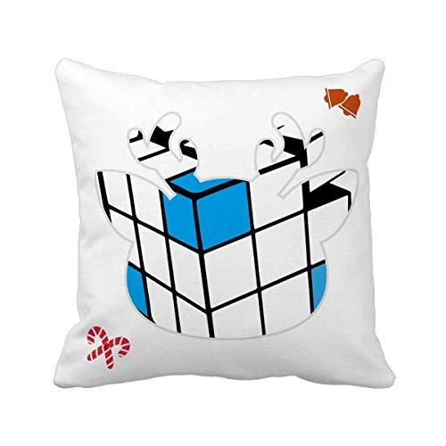 OFFbb-USA Magic Cube - Funda cuadrada para cojín de Navidad