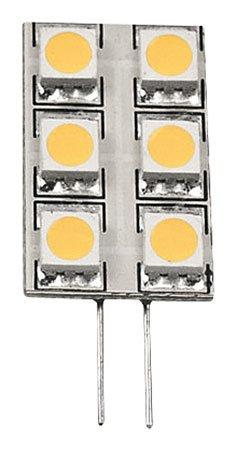 Diodor 6unidades LED plättchen 1,3W, regulable, G4Cálido, forma rectangular, bolígrafos en la Parte Trasera de Dio led6mg4l de 3