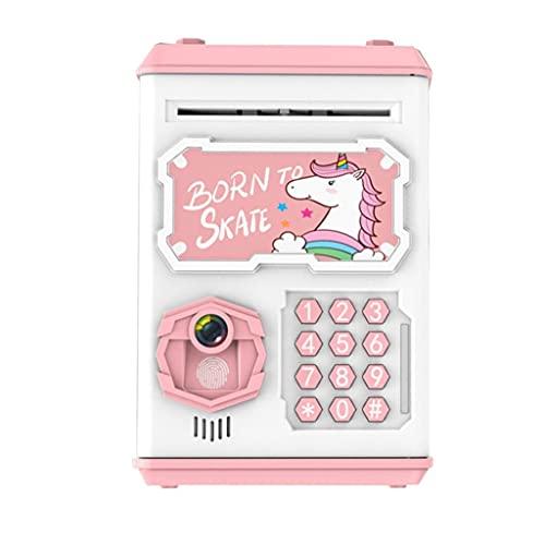 PVDR Reconocimiento Facial Simulado Cajero Automático Caja De Caja Simulada Contraseña Automática Rolling Money Safe Piggy Bank Sin Juguetes Eléctricos