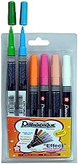 Sakura Permapaque Fine Point Opaque PigmentT Permanent Marker - Set of 6 shades - Vivid colors - B