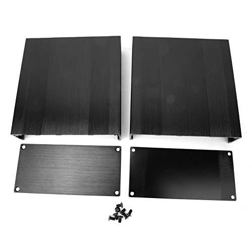 Caredy Aluminium Elektronische Projektbox DIY Schwarz Aluminium Gehäuse Gehäuse Gebürstet Schwarz Oxid Split Typ Aluminium Kühlgehäuse oder Verstärker GPS(150mm)