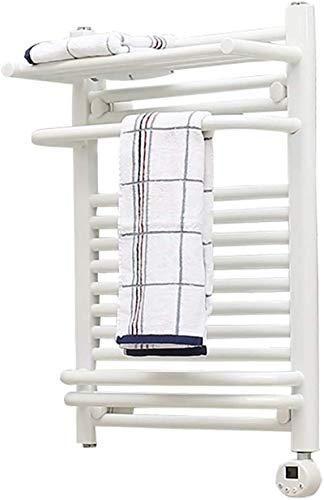Rieles de toallero con calefacción Calentador de toallas, Toallero termostático de baño, Dispensador de toallas eléctrico Temporizador Cuatro modos de control inteligente para secado rápido y esterili