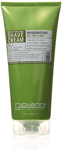 GIOVANNI - Shave Cream Tea Tree & Mint (Invigorating) - 7 fl. oz. (207 ml)