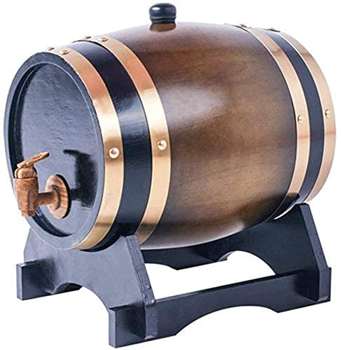 JIAWYJ XIAOJUAN 3L Wood Wood Barrel Barril Almacenamiento Vino Espíritu Spirit Barrels Vino Soporte de Vino con Grifo para Cerveza Whisky Ron Port (Color: a) (Color : A)