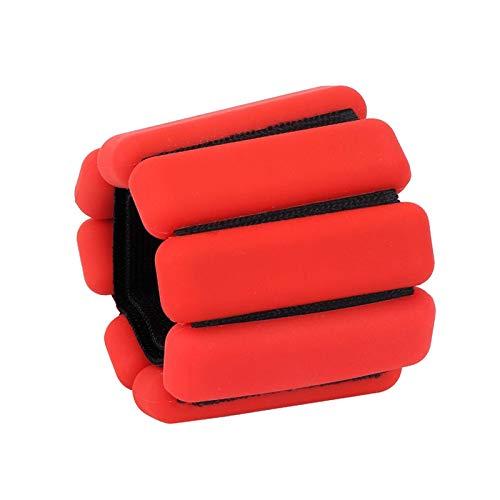 ZSM Anillo de Pesas de Tobillo de 2 Piezas, Anillo de Pulsera de Pesas de Pulsera de Tobillo, 900 Gramos por Tobillo, para Fortalecer el Ejercicio de Fitness Yoga Caminar Corriendo YMIK (Color : Red)