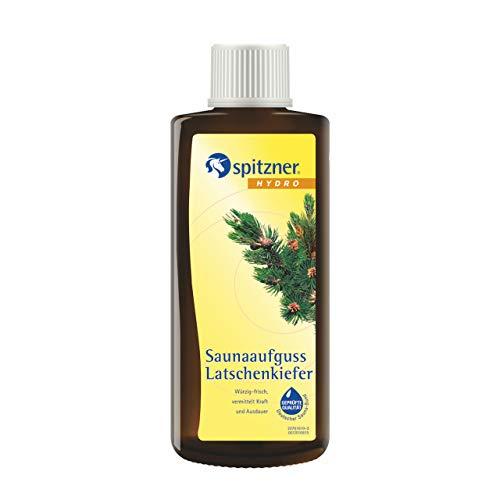 Spitzner Sauna-Aufguss Klassik Latschenkiefer (190ml) Konzentrat - mit natürlichen Inhaltsstoffen. Wohltüend bei Erkältungen, befreit die Atemwege und schenkt Kraft und Ausdauer